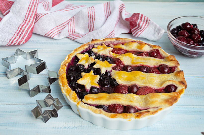American Mixed Berries Pie