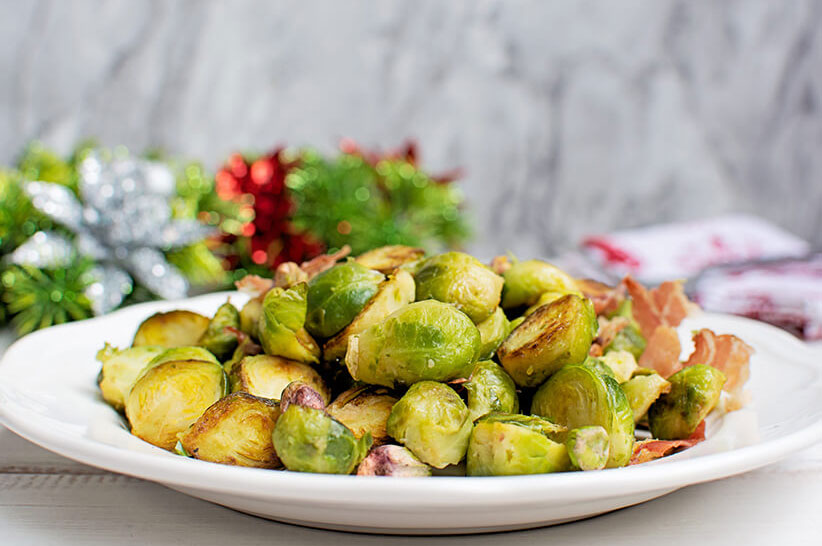 Brussels Sprout with Bacon and Pistachios