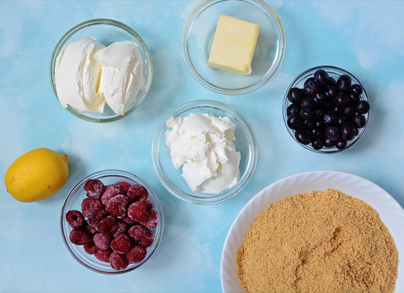 4th July Cheesecake Pie Ingredients