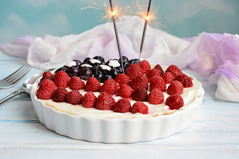 4th July Cheesecake Pie
