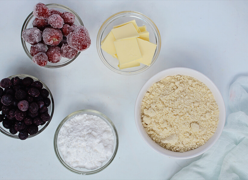 American Mixed Berries Pie Ingredients
