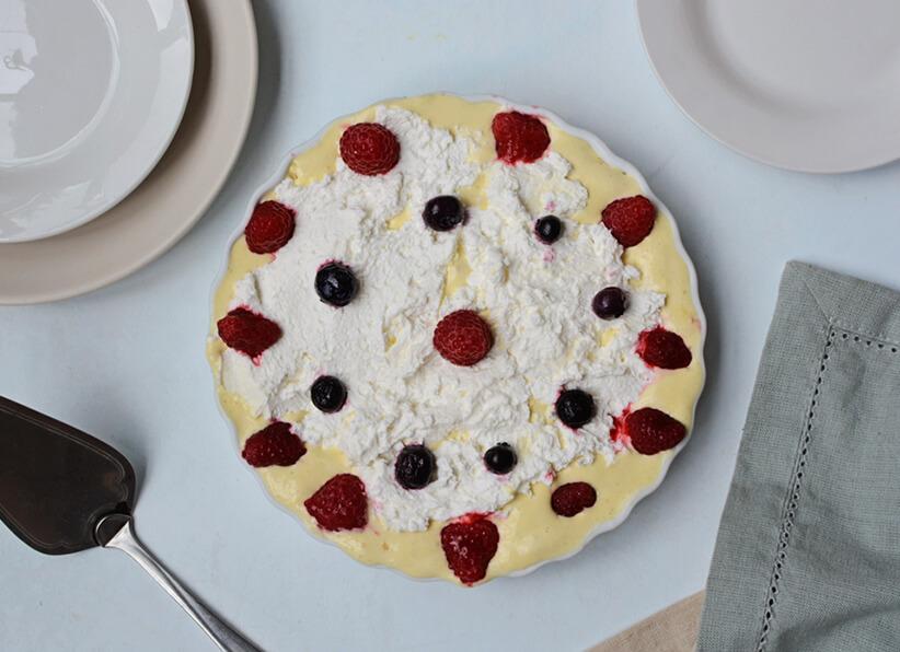 Berries and Cream Ice Cream Pie featured