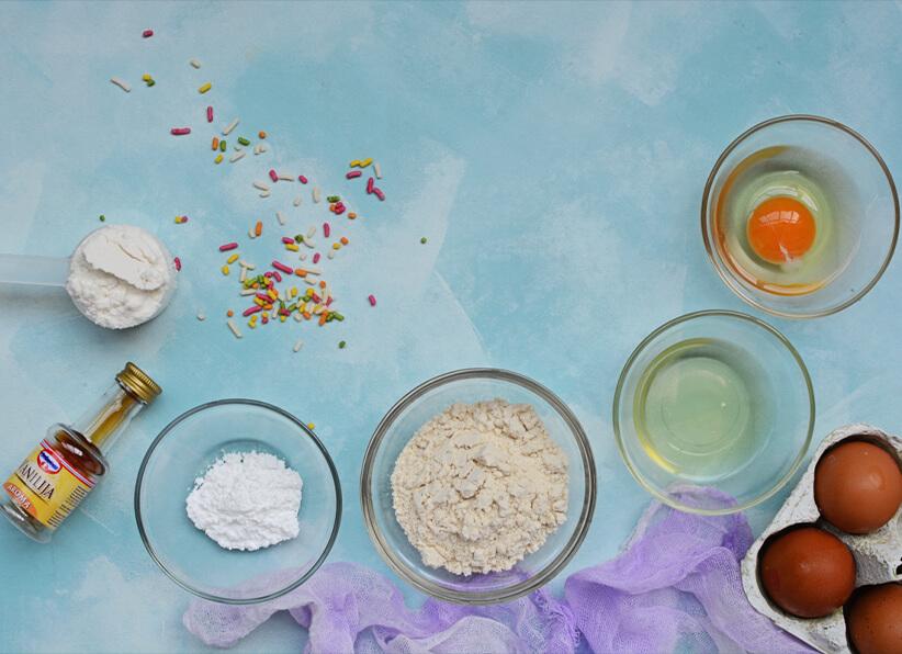 Birthday Cake Batter Protein Pancakes ingredients