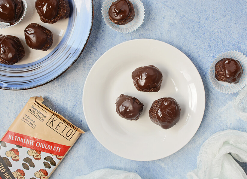Dark Chocolate and Hazelnut Candies