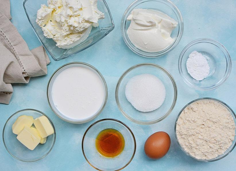 Keto Chocolate Pie ingredients