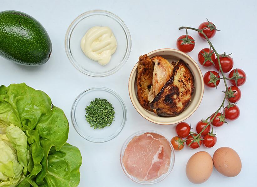 Keto Cobb Salad ingredients