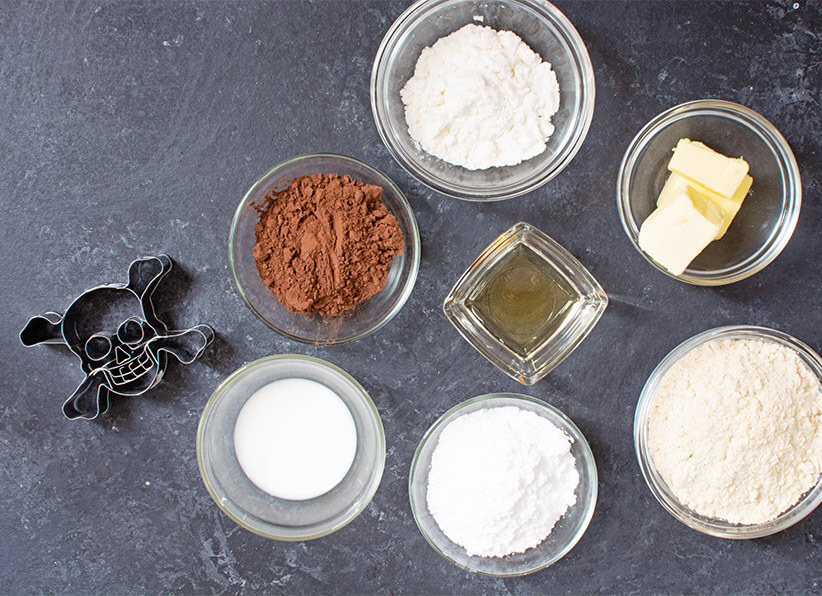 Keto Black Skull Cookies ingredients