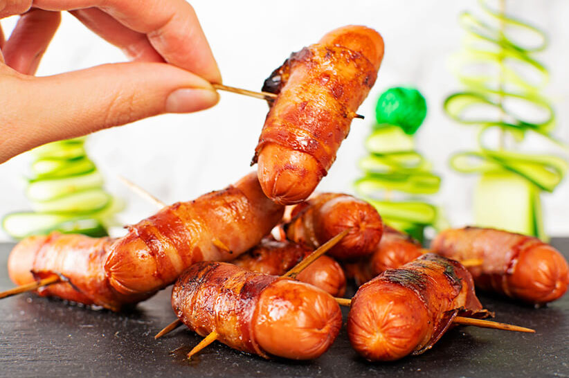 Bacon Wrapped Mini Sausage