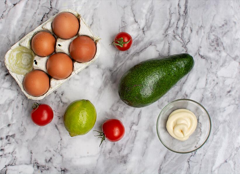 Mayo Green Deviled Eggs ingredients