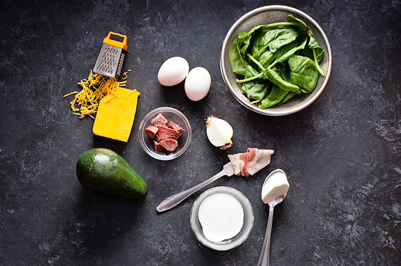 Keto-Chorizo-Omlette_Ingredients